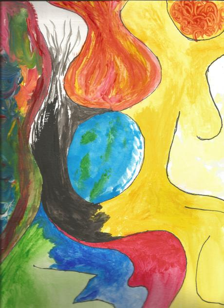 Watercolor on watercolor paper