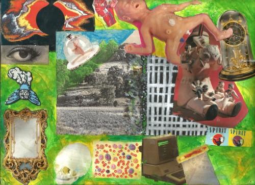 Mixed Media Collage & Gouache