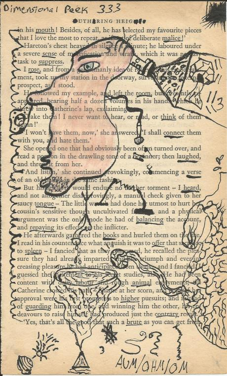 Made With India Ink & A Page From Wuthering Heights